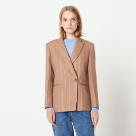 Striped tailored jacket at Sandro