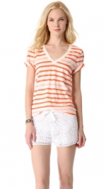 Striped vneck tee by Madewell at Shopbop
