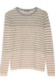 Striped wool-blend sweater at The Outnet