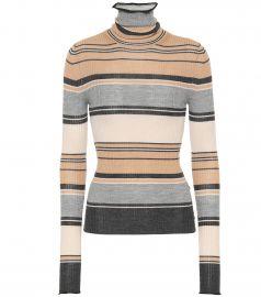 Striped wool turtleneck sweater at Mytheresa