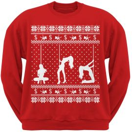 Stripper Silhoutte christmas Sweater by Old Glory at Old Glory