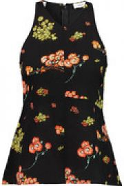 Stuart floral-print silk top at The Outnet