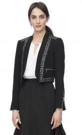 Stud Embellished Jacket at Rebecca Taylor