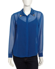 Stud collar shirt by Romeo and Juliet at Last Call
