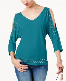 Studded Cold-Shoulder Top by INC International Concepts at Macys