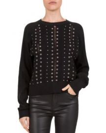 Studded & Grommeted Sweater at Bloomingdales