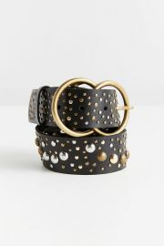 Studded Double O-Ring Belt at Urban Outfitters