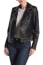 Studded Faux Leather Moto Jacket at Nordstrom Rack