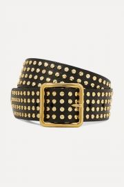 Studded Leather Belt by Alexander McQueen at Net A Porter