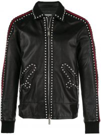 Studded Leather Jacket  Dsquared2 at Farfetch