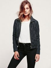 Studded Moto Jacket at Free People