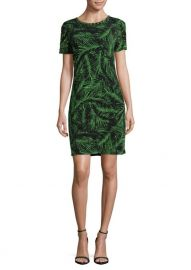 Studded Palm-Print Sheath Dres by MICHAEL Michael Kors at Lord & Taylor