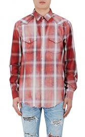 Studded Plaid Western Shirt by Amiri at Barneys