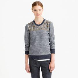Studded Sweatshirt at J. Crew