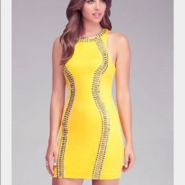 Studded bodycon dress at Bebe