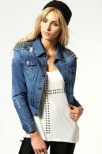 Studded denim jacket like Emilys at Boohoo