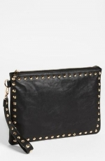 Studded faux leather clutch by Expressions at Nordstrom