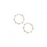 Studded hoop earrings at Madewell