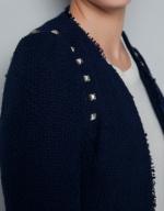 Studded tweed blazer at Zara at Zara