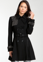Studded wool coat by Bebe at Bebe