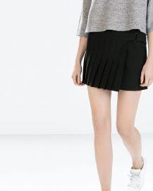 Studio Pleated Mini Skirt at Zara