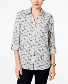 Style   Co  Horse-Print Shirt  Only at Macy s at Macys