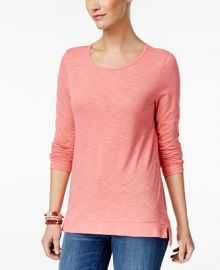 Style   Co High-Low Long-Sleeve T-Shirt  Created for Macy s at Macys