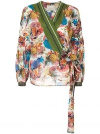 Submerge floral print wrap top by Ginger & Smart at Farfetch