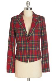 Such a Self-Starter Blazer in Red at ModCloth