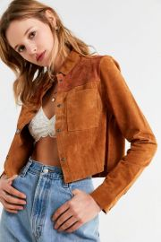 Suede Gas Jacket at Urban Outfitters