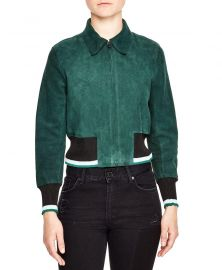 Suede Jacket by Sandro at Bloomingdales
