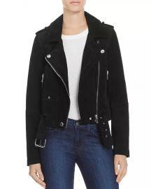 Suede Moto Jacket at Bloomingdales