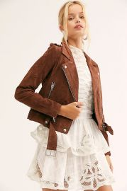 Suede Moto Jacket by Blank NYC at Free People