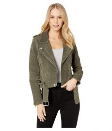 Suede Moto Jacket in Herb at Zappos
