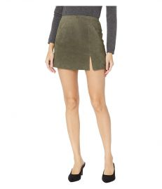 Suede Skirt w/ Side Slit at Zappos