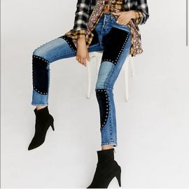 Suede Studded 501 by Free people x Levi at Free People