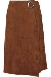 Suede Wrap Skirt by Tibi at Net A Porter