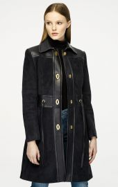 Suede and Leather Coat by Escada at Escada
