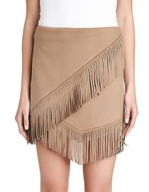 Suede fringe mini skirt by 1 State at Lord & Taylor