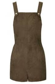 Suedette Military Romper at Topshop