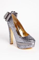 Sugars glittery bow shoes at Nordstrom