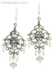 Sultry Black Diamond Crystal Chandelier Earrings at Arte Designs