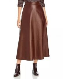 Sumner Midi Leather Skirt at Bloomingdales