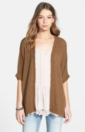 Sun andamp Shadow Dolman Sleeve Cardigan in Brown at Nordstrom