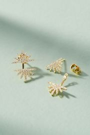 Sunburst Front-Back Earrings at Anthropologie
