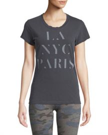 Sundry LA NYC PARIS Crewneck Boy Tee at Neiman Marcus