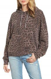 Sundry Leopard Spot Crop Hoodie at Nordstrom