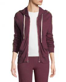 Sundry Metallic Side-Stripe Hooded Jacket at Neiman Marcus