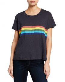 Sundry Rainbow Vintage Short-Sleeve Cotton Tee at Neiman Marcus