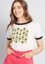 Sunflower Patch Graphic Tee at Modcloth
